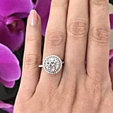 2.5 ctw Round Double Halo Engagement Ring