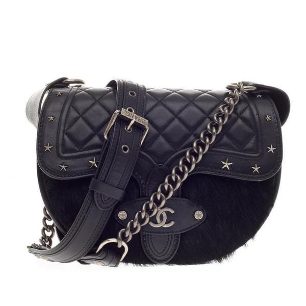 b0f94aa6f Chanel Vintage Dallas Studded Saddle Bag ($4,420) | Fall Bag Trends ...