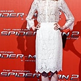 Emma Stone at a Rome Press Event For The Amazing Spider-Man 2 in 2014