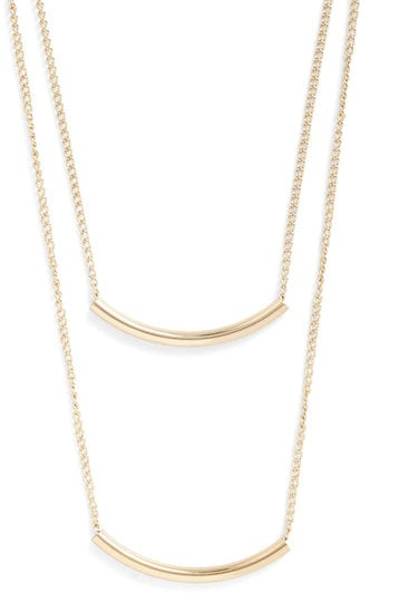 Simple and elegant, this Quite a Swing Set necklace ($14) was made for dressing up a breezy tank top and jeans.