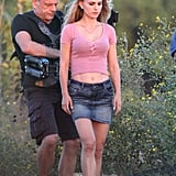 Natalie Portman was on set in Texas for her newest movie.