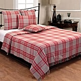 Homescapes Grey & Red Tartan Check Sofa and Bed Throw