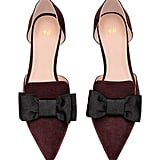 H&M Pointed Flats With Bow