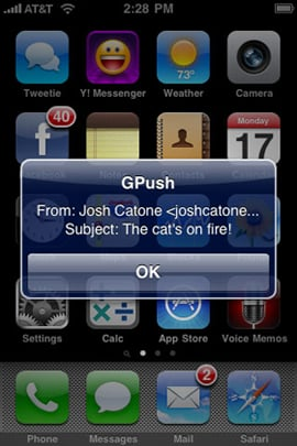 GPush Makes Push Gmail on the iPhone a Reality