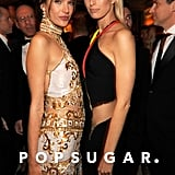 Alessandra Ambrosio and Karolina Kurkova posed together at Vanity Fair's Oscar afterparty.