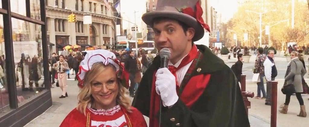 Amy Poehler Christmas Carol Ambush on Funny or Die Video