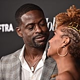 Pictured: Sterling K. Brown and Ryan Michelle Bathe