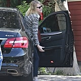 Emma Stone arrived at a movie studio in LA.
