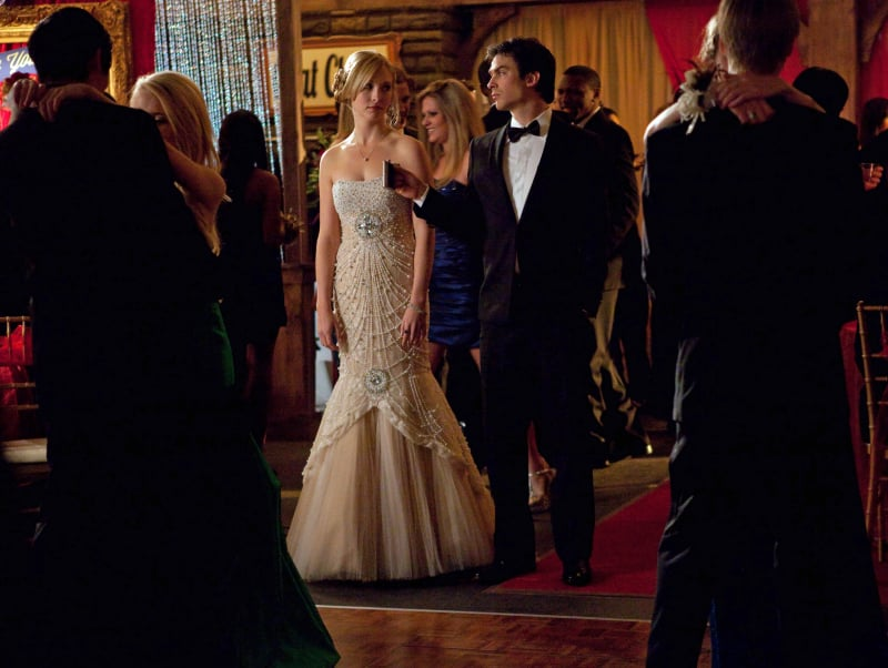 Candice Accola and Ian Somerhalder on The Vampire Diaries.