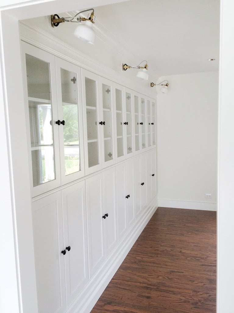 If it's storage you're craving, try this Avery Street Design blogger's tutorial for creating perfectly polished built-ins from Ikea bookcases and cabinets. Source: Avery Street Design