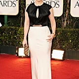 Kate Winslet just can't get enough of Jenny Packham! Here she is at the Golden Globes in January in yet another of the British designer's creations.