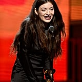 Lorde Grinned on Stage at the Grammys
