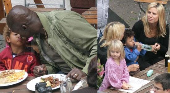 Photos of Heidi Klum, Seal, Leni Klum, Henry Samuel, John Samuel in Germany