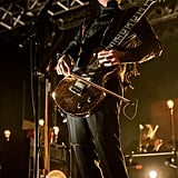 Jón Þór Birgisson of Sigur Rós played a bowed guitar Saturday night.