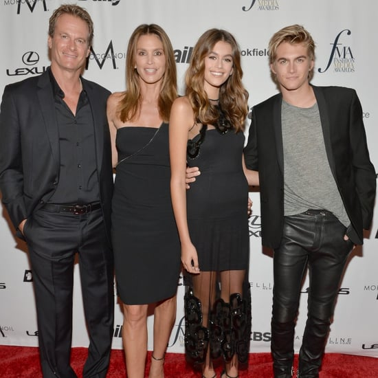 Cindy Crawford and Family at Daily Front Row Awards 2016