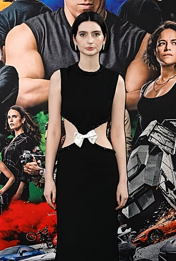 Meadow Walker Wears Cut-Out YSL Dress to F9 Premiere