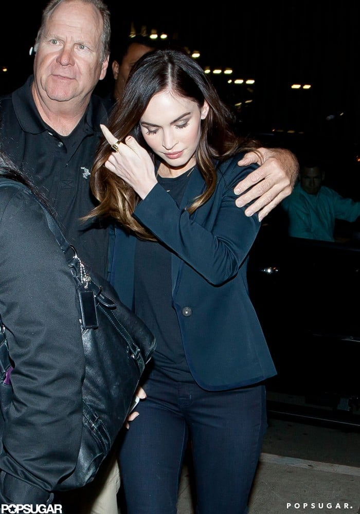 Megan Fox arrived at a screening of This Is 40 in LA.