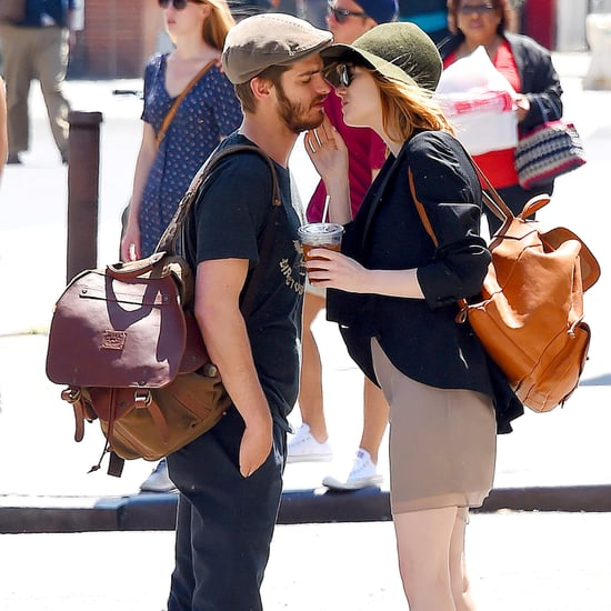 Emma Stone and Andrew Garfield Kissing in NYC