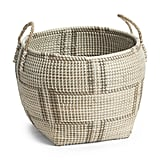 Large Seagrass Patterned Storage Basket