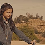 Selena's First Look as a High School Student Is a Printed Collared Shirt and Denim Jacket