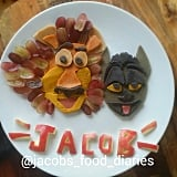 King Julian and Alex spelt pancakes with grapes mane.