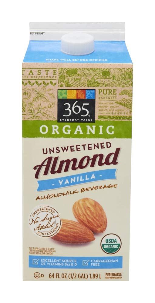 365 Everyday Value Organic Unsweetened Vanilla Almond Milk