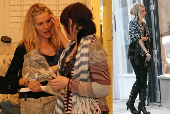Photos of Sienna Miller and Savannah Miller Shopping in London
