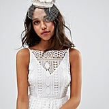 Asos Floral Fascinator With Bow Detail