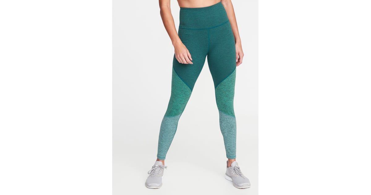 df5920e2e4 Old Navy High-Rise Elevate Colorblock Melange Leggings | Best Old Navy  Workout Clothes | POPSUGAR Fitness Photo 8