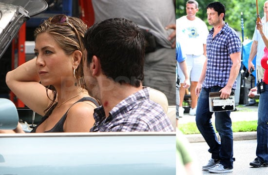 Photos of Jennifer Aniston and Gerard Butler Filming The Bounty 2009-08-07 06:00:00