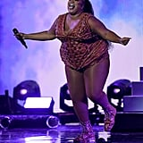 Pictures of Lizzo at the BRIT Awards 2020