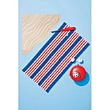 Striped Beach Towel Red