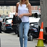 Doutzen Kroes has a way with easy denim and standout footwear.