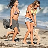 Ashley Tisdale and her friends celebrated her birthday on the beach in Malibu.