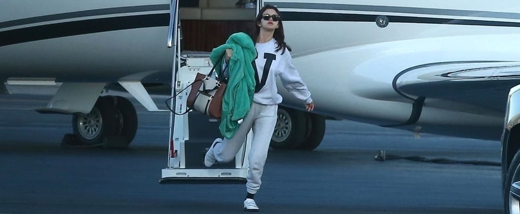 This Is What Selena Gomez Is Wearing the Second She Gets Off a Plane — Literally