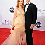 Don't Trust the B in Apartment 23 star James Van Der Beek walked the red carpet with his wife, Kimberly.