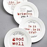Gourmet Grammarian Plate Set ($50)