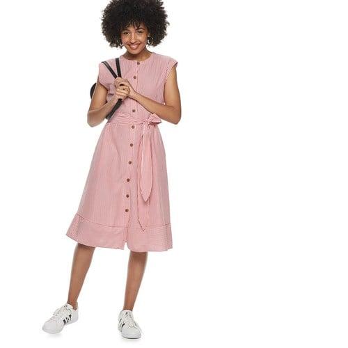 POPSUGAR Belted Button-Down Dress