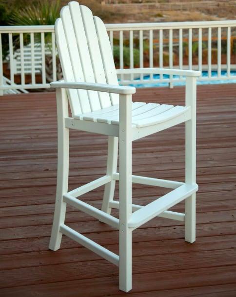 Polywood Classic White Plastic Adirondack Chair