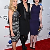 Joanne Froggatt, Elizabeth McGovern, and Michelle Dockery posed on the red carpet together.
