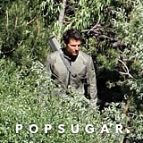 Tom Cruise wore all green on the Oblivion set in CA.