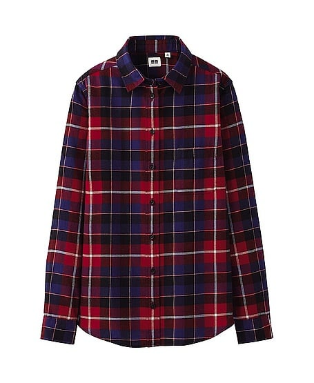 Uniqlo Flannel Check Long-Sleeve Shirt ($30)