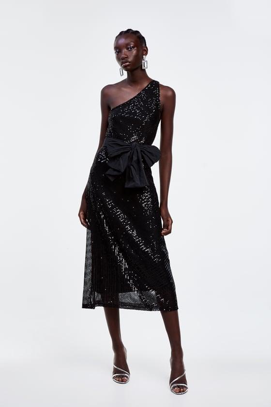 Zara Asymmetric Sequin Dress