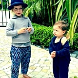 Skyler and Kaius looked stylish as ever when they conversed with each other outside this weekend.