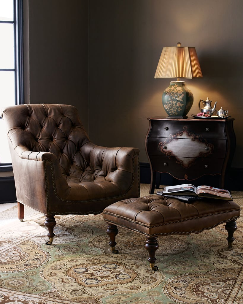I like to think of myself as a modern-day Sherlock Holmes who happens to solve no mysteries and doesn't actually smoke a pipe. The Horchow Tufted Leather Chair & Ottoman ($1,079) is pretty much everything I'm looking for in a chair. Its bucket-like seat looks insanely comfortable, and the fact that an ottoman comes with it is just an added bonus. —Maggie Pehanick, assistant editor