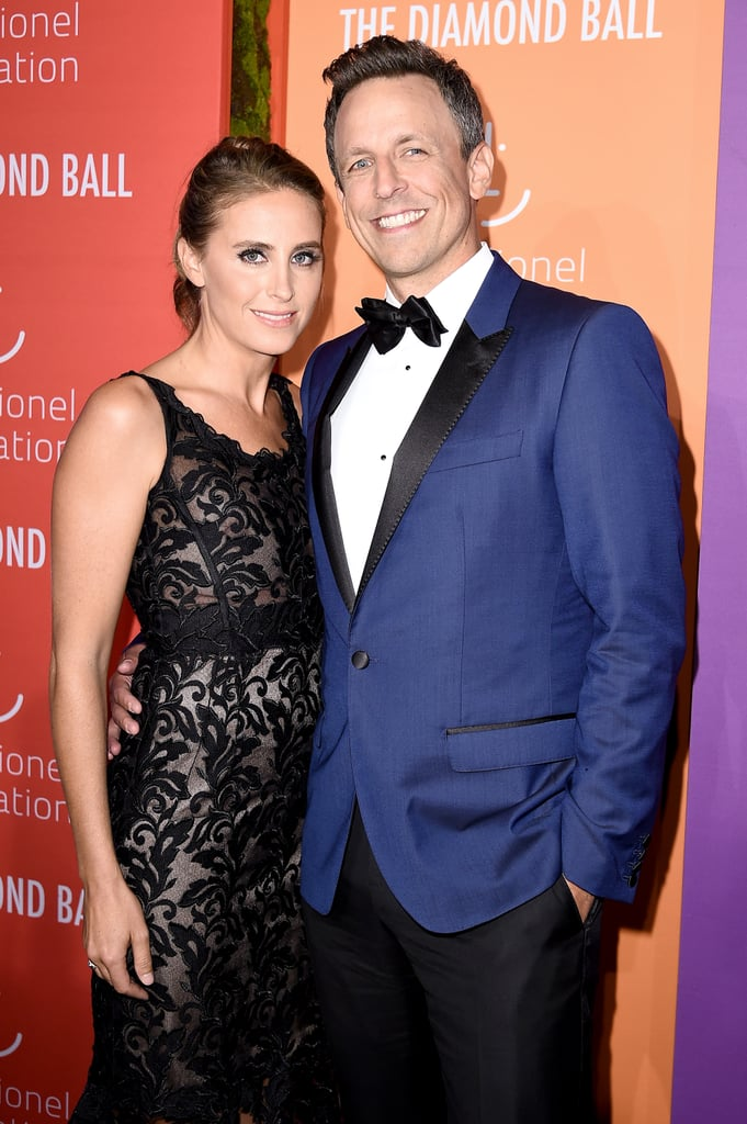 Alexi Ashe and Seth Meyers at the 2019 Diamond Ball   The ...
