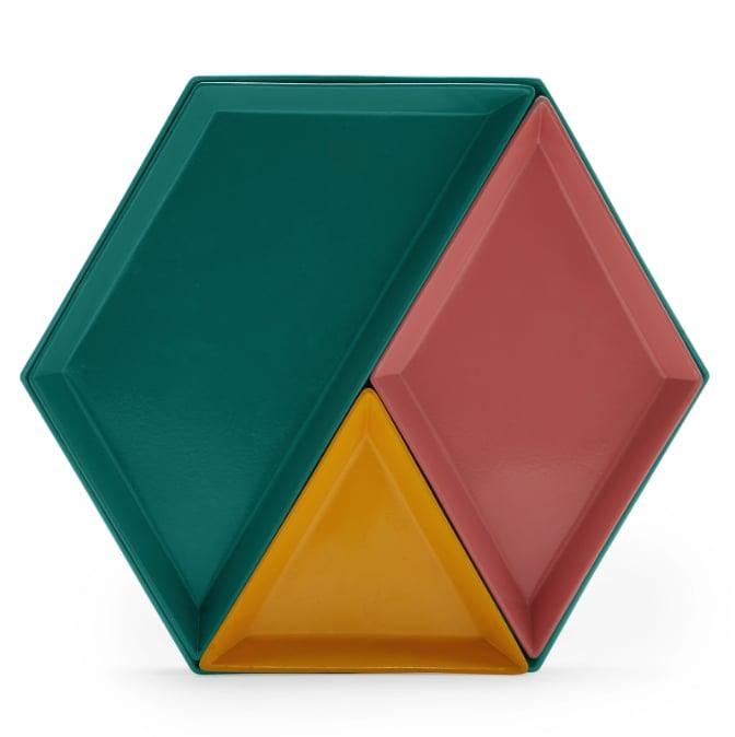Geometric Trays, Set of 4