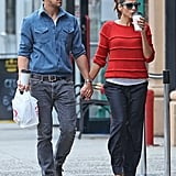 Ryan Gosling and Eva Mendes did lunch.