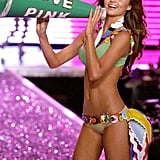 Miranda Kerr carried a giant megaphone during her turn on the runway in 2006.