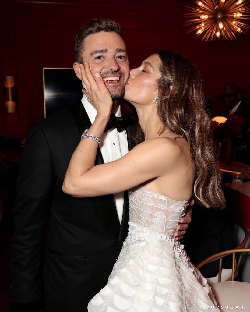 We don't know how it's possible, but Justin Timberlake and Jessica Biel somehow get cuter every time we see them. On Monday, the couple looked like they dropped straight out of heaven and onto the red carpet when they arrived at the Emmys. Justin cut a suave figure in a black tux, while Jessica stunned in a beautiful white gown. Anybody else getting wedding flashbacks? Jessica and Justin have a lot to celebrate; not only was Justin's Super Bowl LII halftime show nominated for outstanding directing for a variety special, but Jessica also scored a nod for outstanding lead actress in a limited series or movie for her role as Cora Tannetti in The Sinner. Oh, and let's not forget that Jessica and Justin will be ringing in their sixth wedding anniversary on Oct. 19. What an exciting time for the Timberlakes!       Related:                                                                                                           These Emmys Looks Will Hold Your Attention Longer Than a Netflix Binge